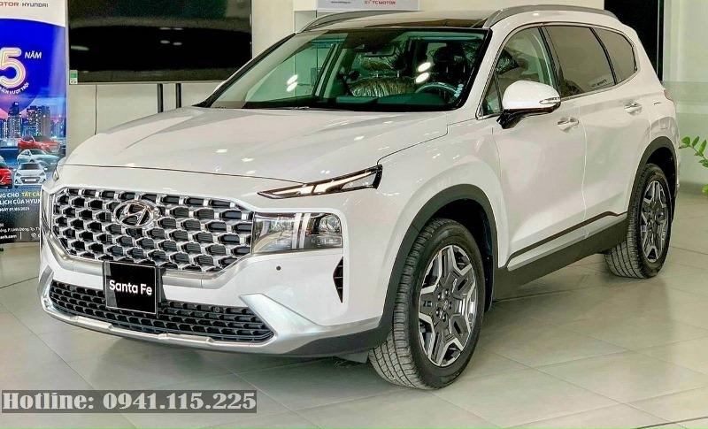 Hyundai Santafe 2021 màu trắng