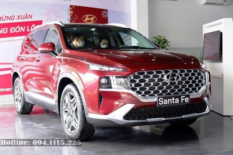 Santa Fe 2021 máy xăng đặc biệt màu đỏ